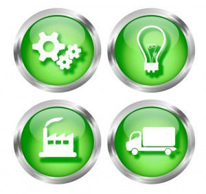 Green Business Icon Buttons