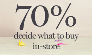 70% decide what to buy in-store