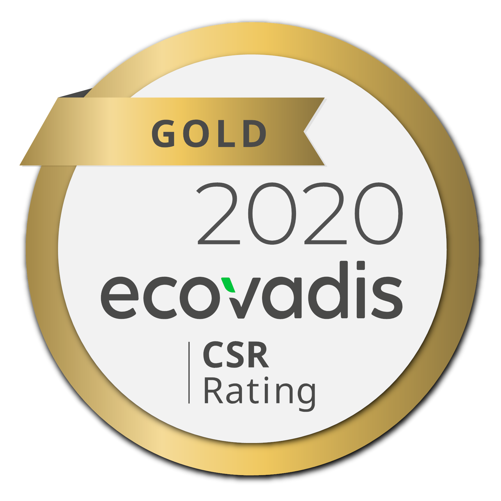 EcoVadis Gold Medal rating of Ecolean